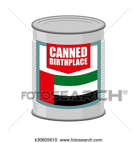 Canned birthplace. Patriotic Preserved birthplace. Part of motherland in Tin. Preserved land for emigrants from UAE. Food for refugees in alien ...450 x 470 jpeg 22kB