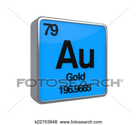 Stock Illustration Of Gold Element Periodic Table K22753948 Search