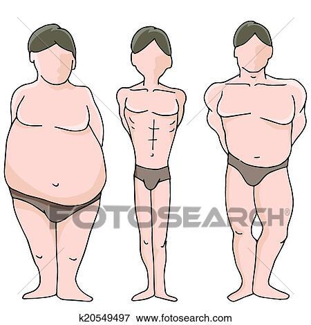 Male Body Shapes Clip Art
