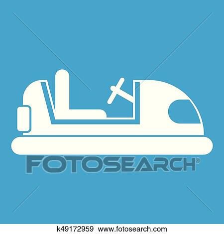 Clip Art Of Toy Car Icon White K49172959 Search Clipart
