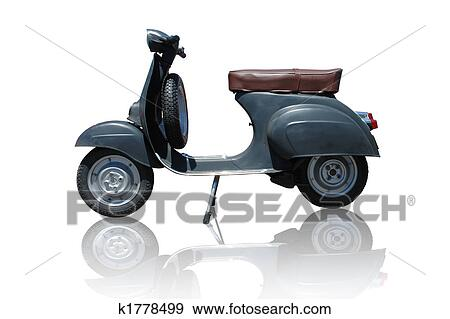 Stock Photograph Of Vintage Vespa Scooter Path Included K1778499