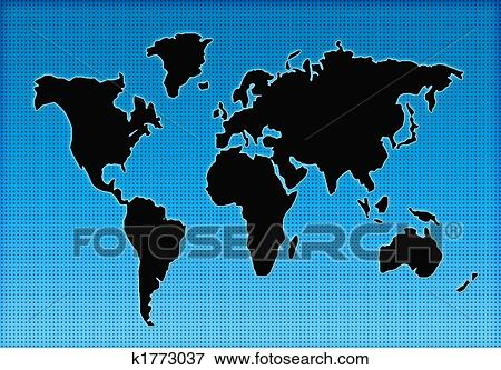 Stock illustration of world map silhouette k1773037 search eps colorful world geographical map silhouette gumiabroncs Images
