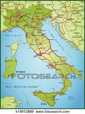 Carte Italie Ligurie.Carte Italie Clipart K19912889 Fotosearch