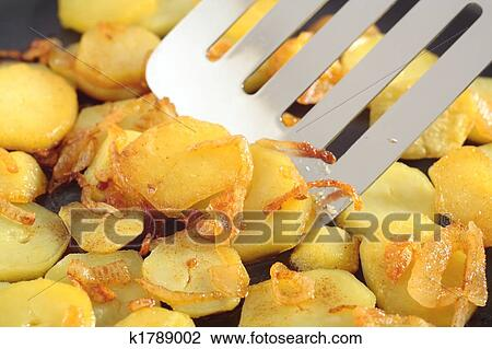 Fried Potatoes Slices Stock Image K1789002 Fotosearch