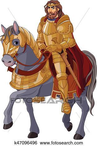 Moyen ge roi cheval clipart k47096496 fotosearch - Clipart cheval ...