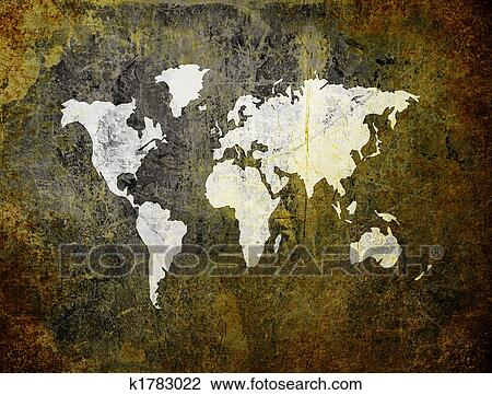 Clip art of old world map on retro paper k1783022 search clipart clip art old world map on retro paper fotosearch search clipart illustration gumiabroncs Choice Image