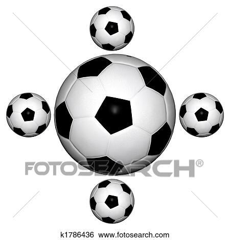 Colección de ilustraciones - pelotas fútbol k1786436 - Buscar Clip ... 991e83c3d4fb3