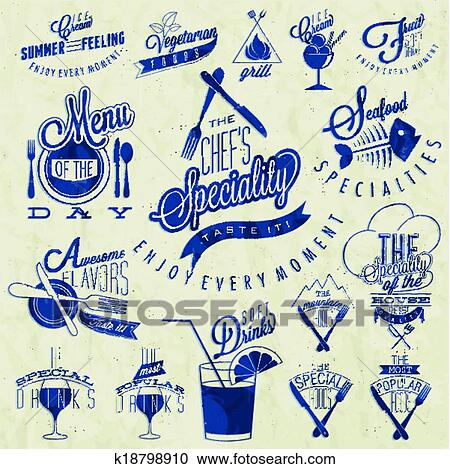 Clipart Of Retro Vintage Style Restaurant Menu K18798910 Search
