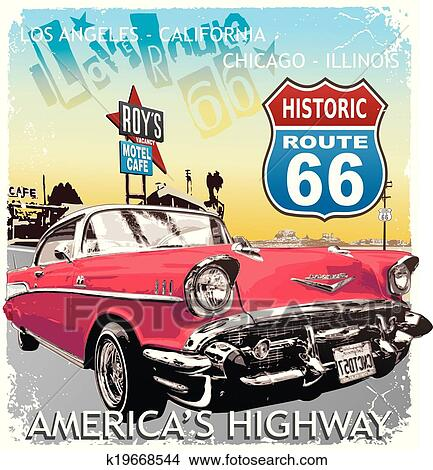 Clipart Of Route Classic Car K Search Clip Art - Classic car search