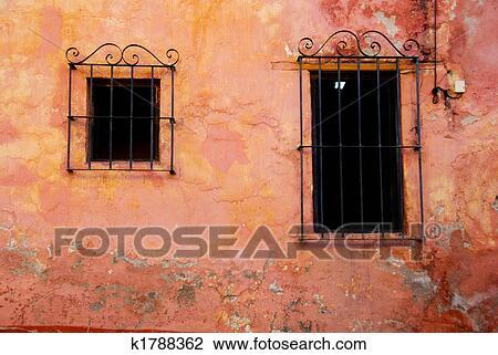Fenetre Rustique banque de photo - rustique, fenêtre, san miguel allende, mexique