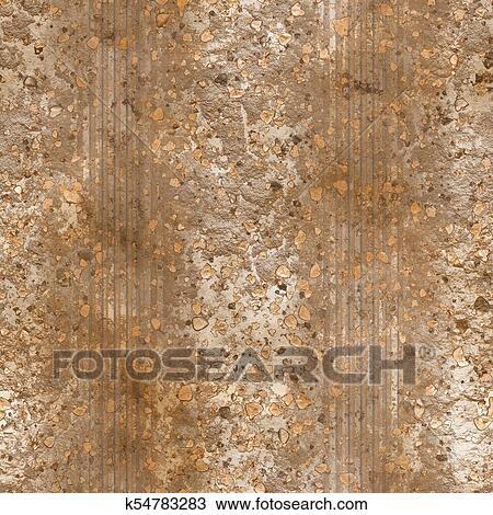 Seamless Chemin Terre Texture Dessin K54783283 Fotosearch