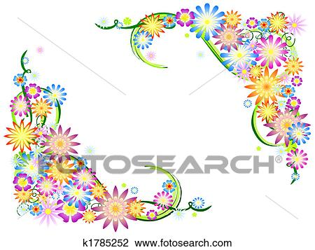 Clip art of spring flowers in colours k1785252 search clipart clip art spring flowers in colours fotosearch search clipart illustration posters mightylinksfo