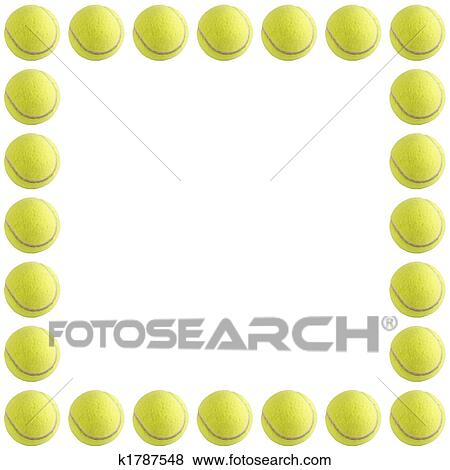 Stock Illustration Of Tennis Ball Frame K1787548 Search Eps Clip