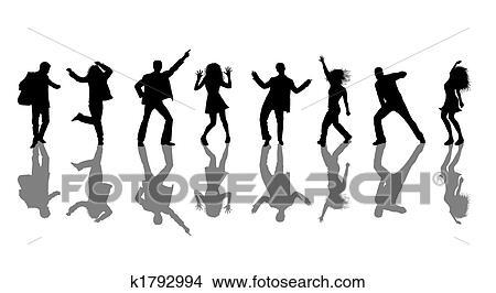 ディスコ ダンサー シルエット イラスト K1792994 Fotosearch