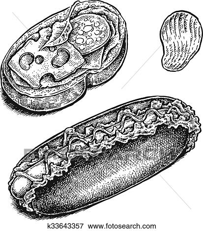 Sandwich Clip Art Black And White