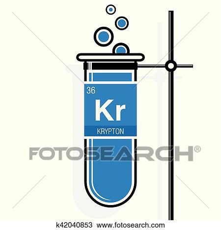 Clipart krypton smbolo en etiqueta en un azul probeta con clipart krypton smbolo en etiqueta en un azul probeta con holder elemento nmero 36 de el tabla peridica de el elementos qumica urtaz Choice Image
