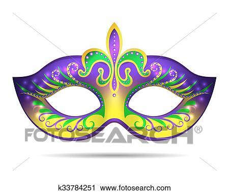 clipart of mardi gras mask k33784251 search clip art illustration