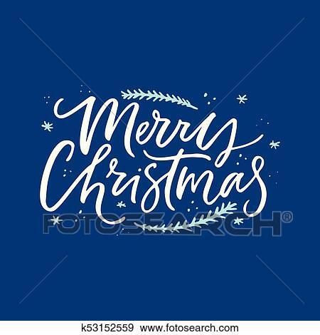 Christmas Lettering.Merry Christmas Lettering Design Clip Art