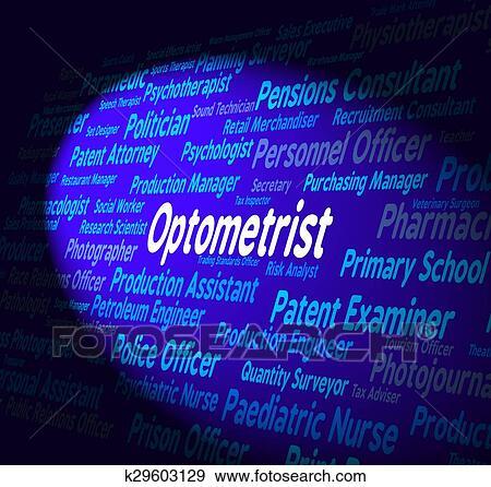 Banque d Illustrations - optométriste, métier, spectacles, oculiste, et,  carrière 11165edec294
