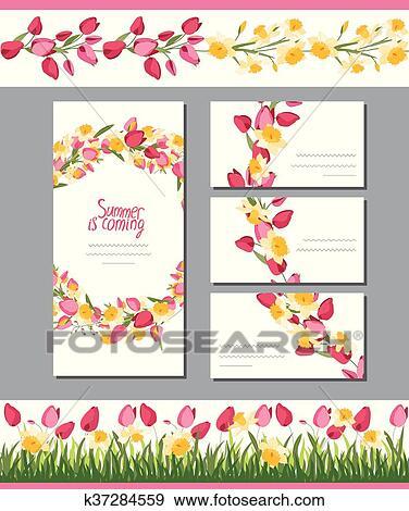 Summer Greeting Card Clip Art K37284559 Fotosearch