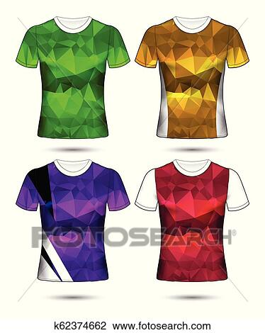 T Shirts Geometric Mosaic Square Patterned Colorful Abstract Art Design for Men