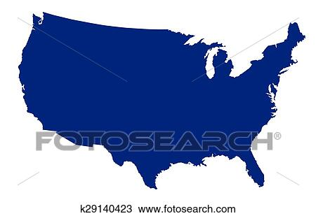 clipart of usa map silhouette k29140423 search clip art rh fotosearch com us map clipart us map clip art editable