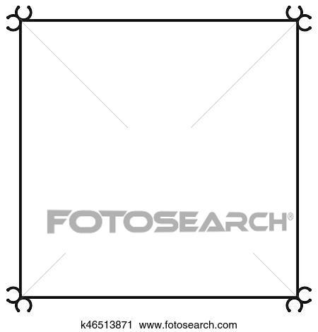 clipart of vintage border of frame vector illustration k46513871 rh fotosearch com vintage frame vector png vintage frame vector svg