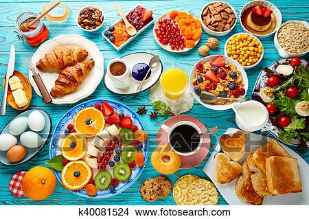 Breakfast Buffet Healthy Continental Coffee Picture