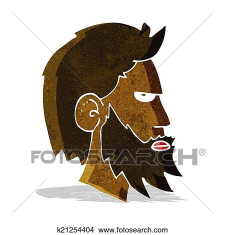 Cartone animato uomo con barba clipart k fotosearch