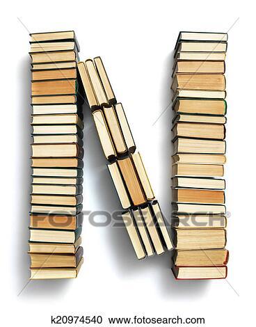 Lettre N Forme Depuis Les Page Fins De Livres Banque D Image
