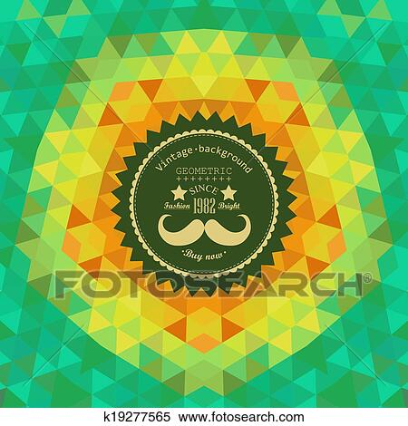clipart of retro star vector backdrop mosaic hipster background
