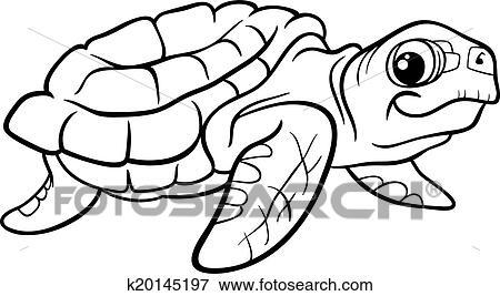 Sea turtle coloring book Clip Art
