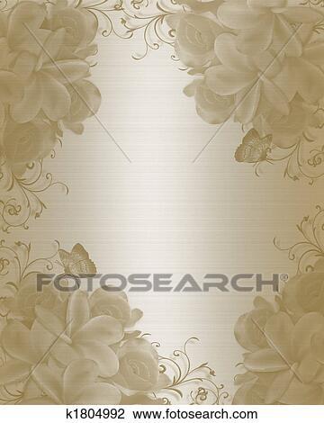 Wedding Invitation Background Elegant Drawing K1804992