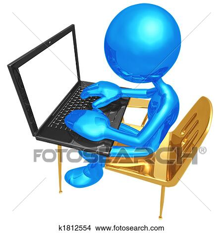 Dessins tudiant bureau ordinateur portable - Recherche ordinateur de bureau ...