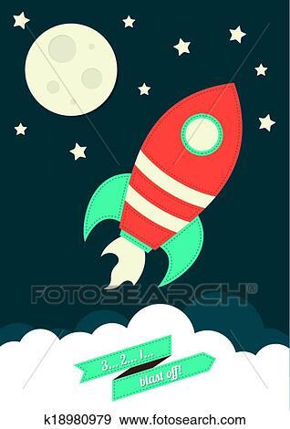 صاروخ الفضاء Clip Art K18980979 Fotosearch