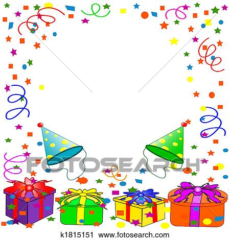 clipart of happy birthday background k1815151 search clip art rh fotosearch com birthday background clipart free birthday party background clipart