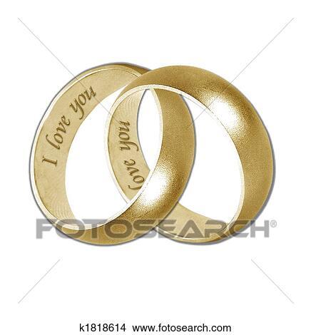 Zeichnungen Hochzeit Ringe Gold K1818614 Suche Clip Art