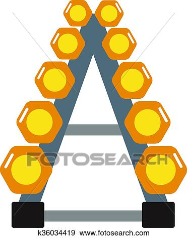 Clip Art Of Dumbbell Exercise Weights Gym Fitness Equipment