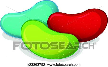 clipart of jelly beans k23863792 search clip art illustration rh fotosearch com jelly bean clipart black and white jelly belly clipart