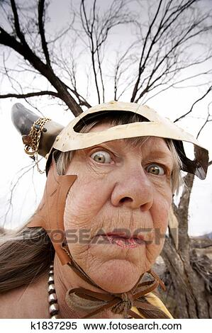 Stock image of crazy viking lady k1837295 search stock for Crazy mural lady