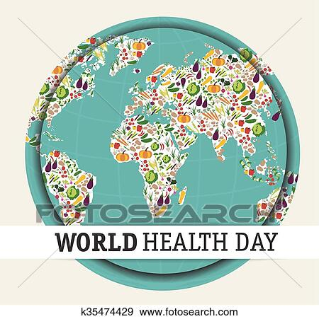 Clip Art Of World Health Day K35474429