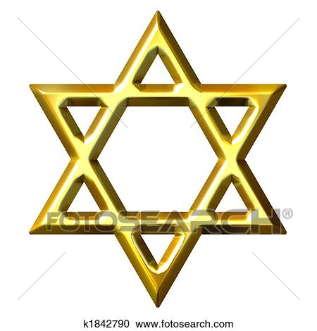 stock illustrations of 3d golden star of david k1842790 search rh fotosearch com Star of David Clip Art Black and White North Star Clip Art