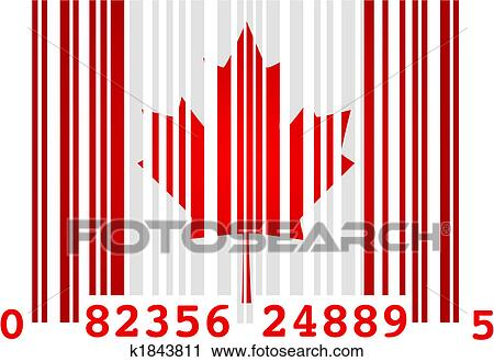 clipart of canada barcode k1843811 search clip art illustration