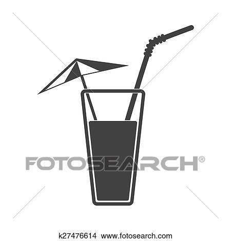 clipart vektor abbildung von alkohol getr nk icon kalte summer cocktail k27476614. Black Bedroom Furniture Sets. Home Design Ideas