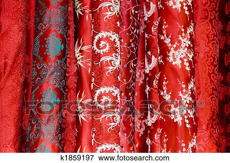 5003b438b Chinese silk Stock Photo | k1859197 | Fotosearch