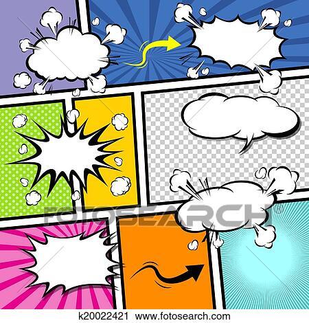 clipart of comic template vector pop art k20022421 search clip art