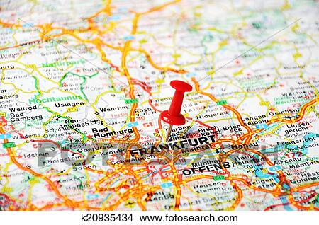 Stock Photo of Frankfurt, Germany map k20935434 - Search Stock ...