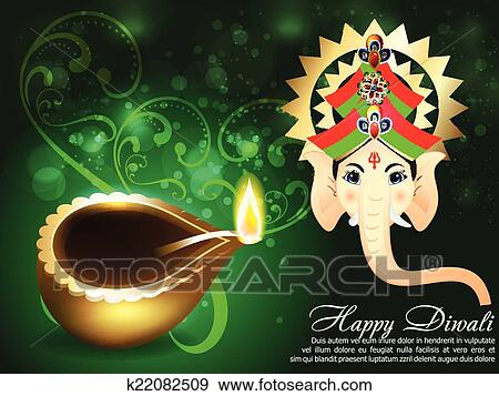Clip art of happy diwali greeting card vector k22082509 search clip art happy diwali greeting card vector fotosearch search clipart illustration posters m4hsunfo