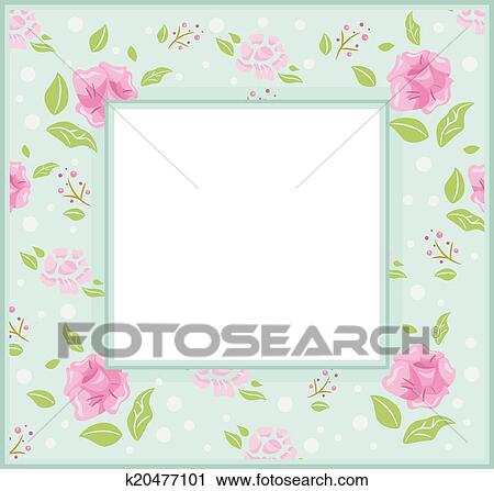 Clipart of Shabby Chic Frame k20477101 - Search Clip Art ...