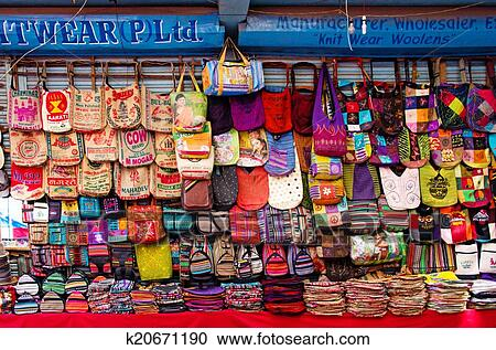 Stock Photography Of The Shop Sell Traditional Nepalese Handicrafts